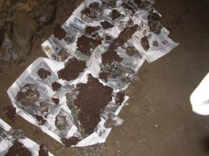 San Leone. Campioni di Siderite con Calcite